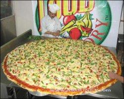 Dünyanýn en büyük pizzasý